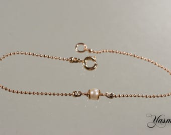 Freshwater Cultured Pearl at rosegoldfilled
