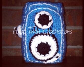 Vintage Camera Toy Crochet Pattern, camera amigurumi, camera toy, vintage camera, camera, photography, photo prop, crochet camera, pattern