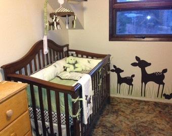 Deer Willow Organic Kids Line Squirrel Nursery Vinyl Wall Lettering Words Quotes Decals Art Custom