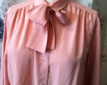 Retro work blouse pink size 12