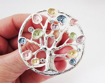 Large Tree Brooch, Tree Brooch Pin, Tree of Life Brooch, Tree of Life Jewellery, Tree of Life Jewelry, Tree of Life Gift, Silver Tree Brooch