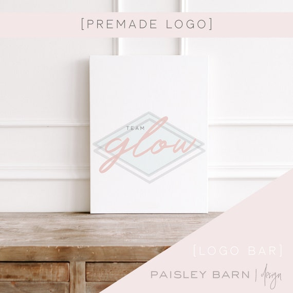 Simple Logo | watercolor, team logo, R+F, premade logo, logo design, minimalist, light, diamond, design studio, photographer
