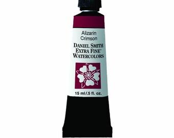Alizarin Crimson Watercolor Paint, 15ml Paint Tube, Daniel Smith Extra Fine Watercolor