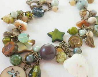 A bohemian style beaded necklace...