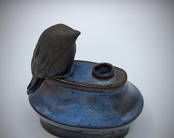 Little sprig bird vase