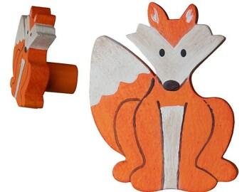 Woodland Fox Drawer Knob - Fox Drawer Pull