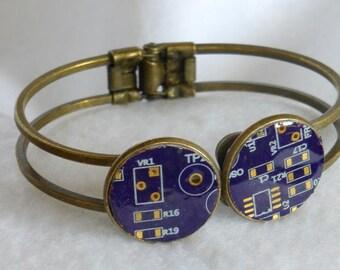 Steampunk Style Circuit Board Bracelet SB034