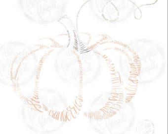 Pumpkin Word Art (Print)