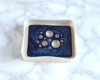 BUBBLE soap dish and tray set, midnight