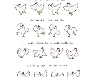 Arrested Development Chicken Dance Print - Hand-Illustrated