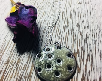Moon Necklace ~ Moon Pendant~ Enamel Moon Necklace