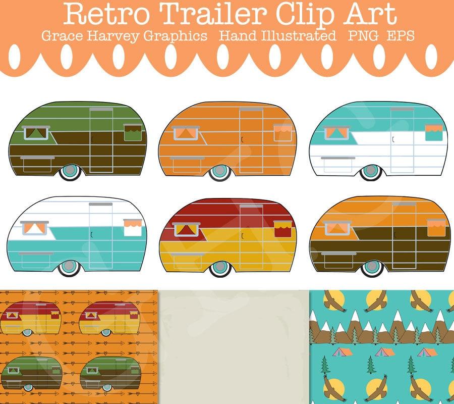 Camper Clip Art Trailer Retro