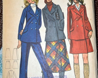 Vintage 1970's Sewing Pattern Butterick 5960 Misses' Separates Size 10 Bust 32 Uncut Complete