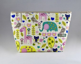Zoo Critters Makeup Bag - Accessory - Cosmetic Bag - Pouch - Toiletry Bag - Gift