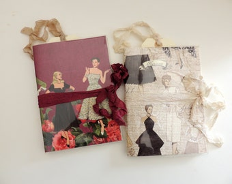 Fashionista Notebook, Fashion Notebook, Retro Fashion Notebook, High Fashion Notebook, Coco Chanel Tag