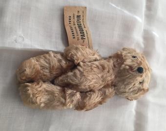 Paddington Bear with tag,