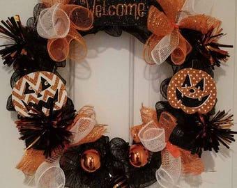 Happy Pumpkins Halloween Wreath