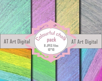 Digital Paper Photography Scrapbook Paper Chalkboard Paper Digital Background Colourful Chalk Digital Paper Commercial Use Chalk Paper