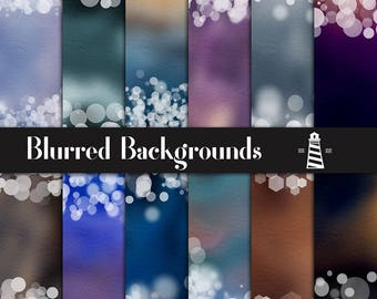 Blurred Digital Paper, Blurred Backgrounds With Bokeh Borders, Colorful Blurred Papers, Bokeh Confetti, Invites, Card Making, BUY3FOR6