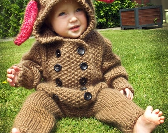Double Breasted Bunny Suit .pdf knitting pattern