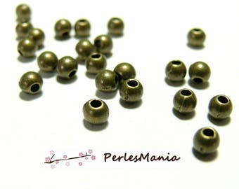 PAX 1000 spacers METAL round smooth 3mm BRONZE S111092