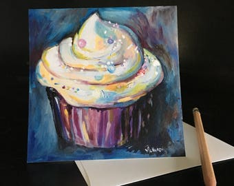 Frameable Cupcake Fine Art Card