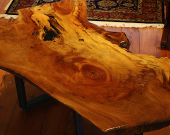 Reclaimed Spalted Sycamore Large Coffee Table made from Houston Heights Protest Tree