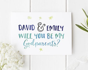 A godparent is a gift card 100 recycled card godmother personalised godparents card will you be my godparents a lovely godparents card to ask a m4hsunfo
