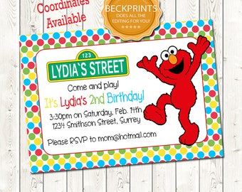 Elmo first birthday invitations etsy elmo birthday invitation birthday invitation digital birthday invitation digital download jpeg file filmwisefo Image collections