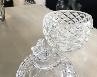 Butterfly Crystal Bowl