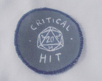 Dungeons & Dragons D20 roleplay 'critical hit' patch / pathfinder / skyrim / tabletop roleplay / dungeon master
