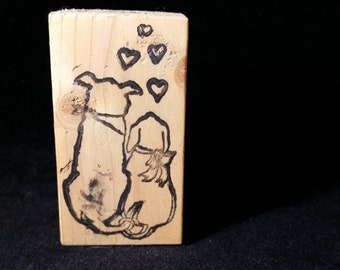Puppy Love Used Rubber stamp View all Photos