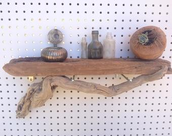 Rustic Driftwood Shelf