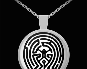 Westworld Maze Pendant Necklace - Gift for Friend