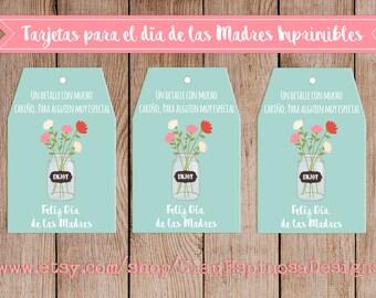 Tarjetas imprimibles para el día de las Madres/Mothers Day SPANISH***INSTANT DOWNLOAD***Printable