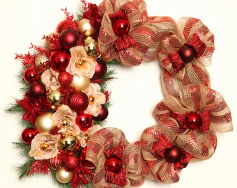 Wreath Christmas, Christmas Wreaths by Mariana Flores painter and Creations