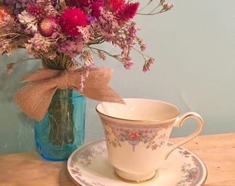 Vintage Tea Cup, Royal Doulton, Juliet Tea Cup, Made In England, Blue Tea Cup, Floral Tea Cup, Tea Party, Afternoon Tea, Alice In Wonderland
