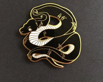 Black snake hard Enamel pin 42 mm