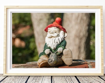 Garden gnome.  Photo. Landscapes of Spain. Sun and light. Printable image for download. From Spain with Love