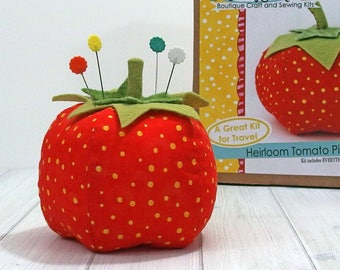 Tomato Pincushion Sewing Kit, DIY Kit, Jennifer Jangles Craft Kit
