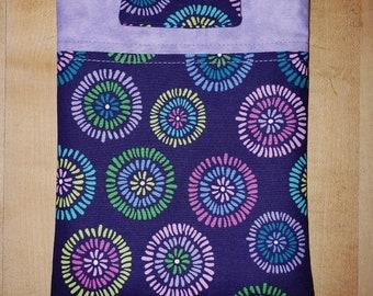 Purple Flower E-Reader Book Sleeve