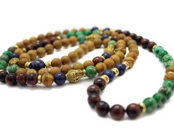 Wooded Path Mala - 108 Mala bracelet for women men