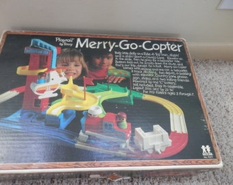 TOMY playrail merry-go-copter vintage toy set 1976