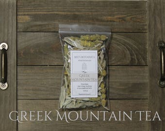Greek Mountain Tea, Dried Ironwort, Beesbotanics Shepherd's Tea, Mountain Tea, Sideritis Herbal Tea, Sideritis syriaca, Loose Herbal Tea,
