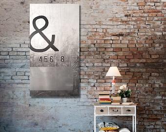 Never Give Up - Metal wall art, contemporary black and white 24 x 48 metal art wall decor, wall decor, Industrial wall art, fine art, paint