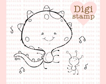 Monster Mash Digital Stamp for Card Making, Paper Crafts, Scrapbooking, Hand Embroidery, Invitations, Stickers, Coloring Pages, Halloween