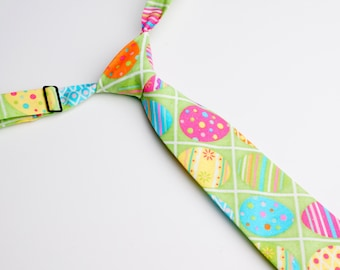 Easter Eggs Neck Tie With Adjustable Strap