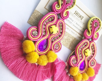 Soutache Earrings Tassels