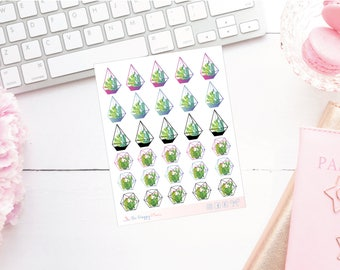 Terrarium Boho Colourful Planner Stickers