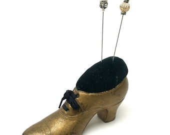 Shoe Pin Cushion, Large, Shoe Laces, Victorian, Sewing Notions, Needlework, 1900